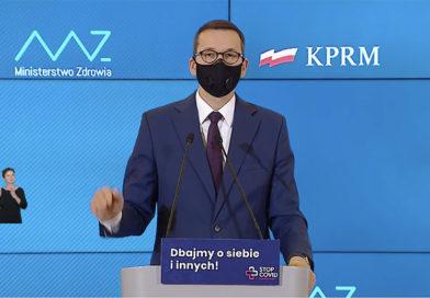 Премьер Польши представил новые ограничения в стране. Закроются галереи, кино, театры